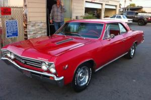 1967 Chevrolet Chevelle SS Coupe 396 BIG Block Auto Muscle CAR RED HOT ROD Chev in VIC