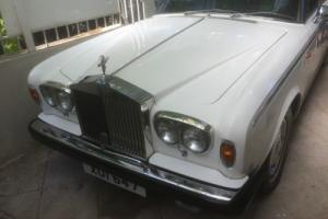 1980 ROLLS ROYCE SHADOW 2 WHITE WITH DARK BLUE EVERFLEX ROOF. 33,000 MILES ONLY