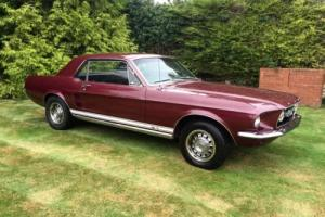 Ford Mustang GT , 1967 , S code , 4 speed , genuine GT with Marti Report Photo