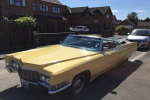 1969 Cadillac DeVille Convertible - 31,000 Miles - US Classic Car - MOT'd