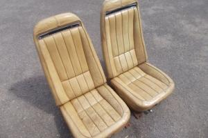 CHEVROLET CORVETTE C3 LEATHER SEATS IN SADDLE - FROM A 1970 BUT WILL FIT ALL.