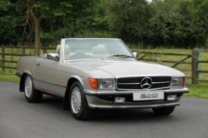 Mercedes-Benz R107 300 SL (1989) Smoke Silver with Cream Leather