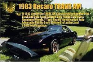 1983 Pontiac Firebird Recaro