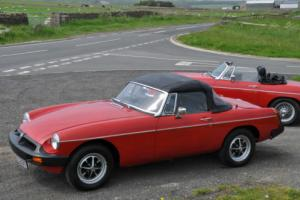 MG B ROADSTER IN TARTAN RED, LEATHER SEATS FULL M.O.T, THIS CAR IS NOW SOLD