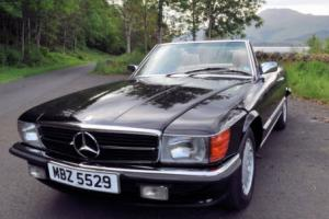 Mercedes 500SL R107 1985 Black Auto