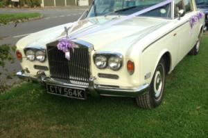 ROLLS ROYCE SILVER SHADOW 1 - 1972 (K REG) IVORY WHITE & NAVY LEATHER INTERIOR