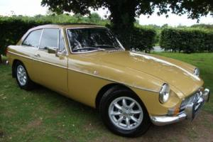MG B GT 1.8 HARVEST GOLD CHROME BUMPER 1972