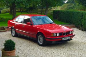1994 BMW 525 TDS TURBO DIESEL MANUAL, HELL RED, e34 STUNNING SHOW CAR & HISTORY