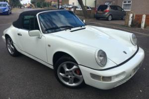 1990 PORSCHE 911 964 C2 112000 GRAND PRIX WHITE CONVERTIBLE EXCELLENT CONDITION