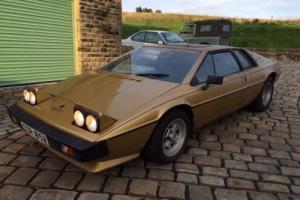1979 Lotus Esprit S2, low mileage, BARN FIND last used in 2005 and stored since