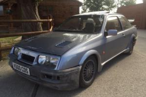 VERY RARE FORD SIERRA COSWORTH 3 DOOR MOONSTONE BLUE ONLY 30,000 MILES