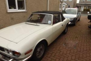 1972 Triumph Stag- stainless bumpers,datsun driveshafts,jag 4 pot calipers,weber