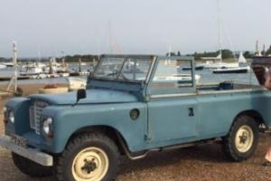 """1977 LAND ROVER SERIES 3 109"""" 6 CYLINDER BLUE/GREY 2.6 pick up Photo"""