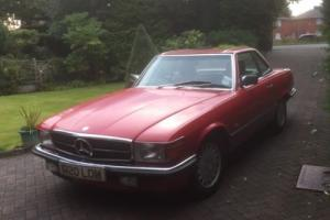 1989 MERCEDES BENZ 300 SL AUTO RED 1 LADY OWNER CAR SEE LISTING
