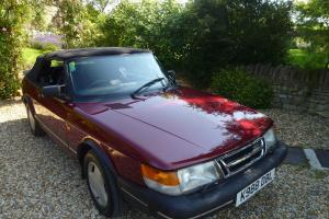 1992 Saab convertible in ruby red and beautiful condition - ready to drive away