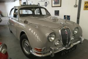 1965 JAGUAR S TYPE 3.4 DOVE GREY WITH FRENCH BLUE LEATHER INT NEW WEBASTO