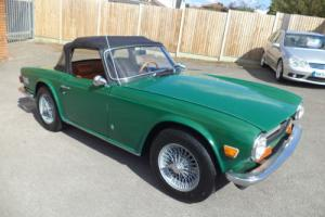 TRIUMPH TR6 2.5 CONVERTIBLE (1973) GREEN! GREAT CAR! AMAZING INTERIOR! DRYSTATE! Photo
