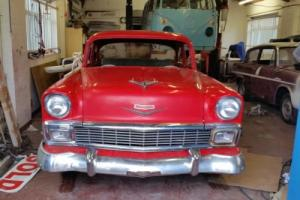 1956 chevy 2 door post american tri chevy hot rod resto project ! Photo