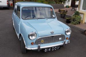 Classic 1961 Austin 7 Mini Deluxe Speedwell Blue