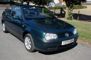 Volkswagen Golf 1.6 SE CABRLOET GREEN 5 SPEED 44 MPG