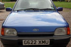 Ford Escort Mk4 1297cc Eclipse 1990 85500miles 3 owners Bahama Blue A1 condition Photo