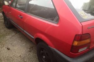 1992 VOLKSWAGEN POLO CL COUPE RED 1300 5 SPEED PROJECT CAR NEEDS WORK