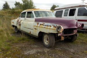 1953 Cadillac, with no engine or gearbox, good solid shell, comes with with a V5