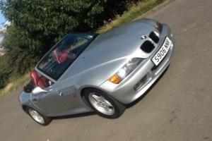 BMW Z3 1.9 CONVERTIBLE SILVER WITH RED LEATHER Photo