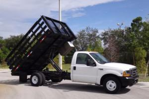 1999 Ford F-350 12ft Flatbed Stake Dump Truck