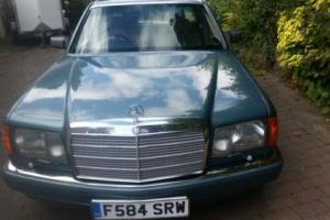 1989 MERCEDES 500 SEL AUTO GREEN