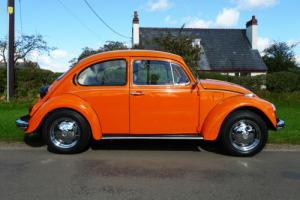 VW BEETLE ORANGE 1974 1600cc DRIVES PERFECTLY - OVER £4000 RECENTLY SPENT SUPERB