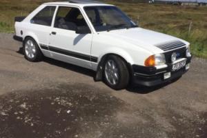1983 FORD ESCORT RS 1600 I WHITE
