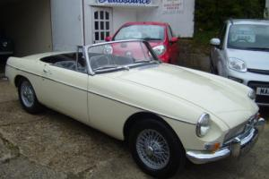 1965 MG B Roadster, overdrive and wire wheels.