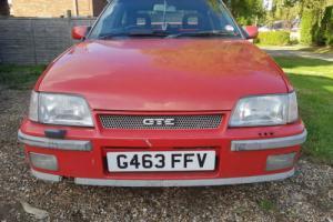 1989 VAUXHALL ASTRA GTE 16V RED