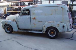 1949 GMC panel van project s10 frame v8 runs and drives