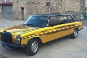 1970 MERCEDES 220 D DIESEL LWB W115 W114 RARE LIMOUSINE MODIFIED IN CHROME GOLD