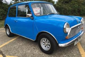 1979 Austin Mini 1000cc. Pageant blue. FSH. Fully serviced and ready to go.
