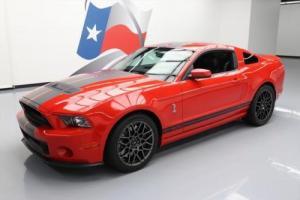 2013 Ford Mustang GT500 SVT TRACK PKG S/C 6-SPD NAV