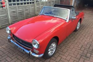 1972 MG MIDGET 1275 RED ROUND ARCH