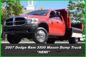 2007 Dodge Ram 3500 Crew Cab Dump Truck