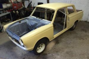 Ford Cortina Mk1 restoration project, Historic classic race rally Lotus GT FIA Photo