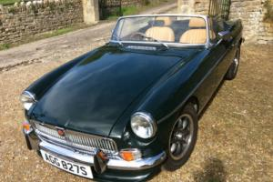 MGB Roadster, 1978 Converted to chrome bumper. Dark Racing Green