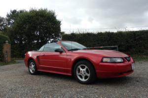 2001 FORD  MUSTANG CONVERTABLE 3.8 AUTOMATIC  ONE OWNER IN RED.
