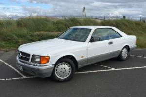 1988 MERCEDES 560 SEC AUTO WHITE W126 S-Class Coupe V8 Stunning BARGAIN Photo