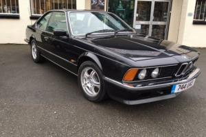 1986 BMW 635 CSI Auto Coupe in Metalic Black ~ Excellent condition throughout