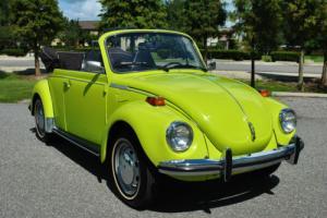 1973 Volkswagen Beetle - Classic Convertible 4-Speed Restored Rare Ravenna Green!