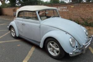 1963 VW beetle KARMANN Convertible restoration project Porsche addition