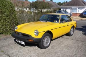 MGB GT 1979 Inca Yellow MOT July 2017
