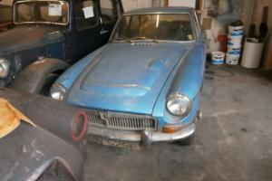 1968 MGC GT classic car restoration barn find collectable