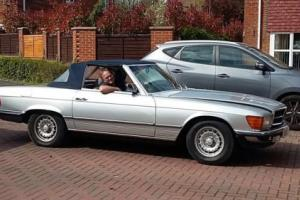 1984/B-Mercedes 380SL R107 Convertible. 77k, Leather, Rear seats.